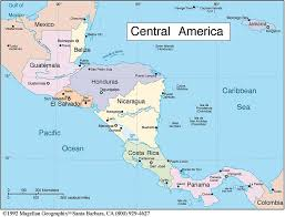 america political map hd ambitious and combative map of central america