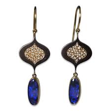 blue opal earrings fire u0026 forge randi brothers tear drop opal earrings vincents