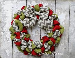 burlap christmas wreath chevron burlap christmas wreath wreath year