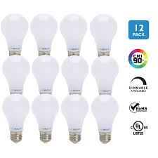 viribright 60 watt replacement led light bulbs 12 pack 6000k