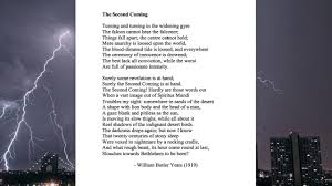 wb yeats sample essay yeats second coming lecture youtube