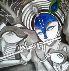 most beautiful sketch painting and art of shree krishna bhagwan