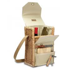 wine and cheese basket time corsica insulated wine and cheese basket