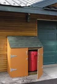 make a trash barrel shed startwoodworking com