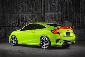 Honda Civic Si Two Door It U0027s Official New 2016 Honda Civic Coupe Announced For L A