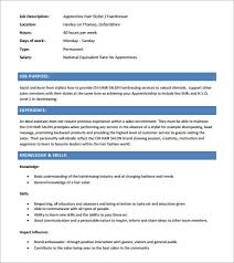 hair stylist assistant resume chronological resume template the