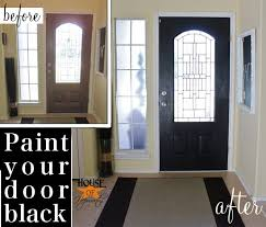 Painting Exterior Door Black Painted Front Door And It Wasn T An Epic Fail