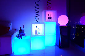 16 inch led cube 16 different colors indoor outdoor furniture