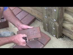 Cutting Patio Pavers Cutting Pavers Stage 4 Youtube