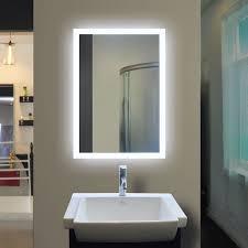Lit Bathroom Mirror Backlit Bathroom Mirror Rectangle 40 X 24 In By Mirror