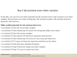 Sample Resume For Lab Assistant by Top5labassistantcoverlettersamples 150621002348 Lva1 App6892 Thumbnail 4 Jpg Cb U003d1434846285