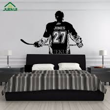hockey mural for bedroom wall murals you ll love wall murals decals sports themed interiors