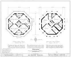 House Layout Plans Octagon House Plans Home Vintage Blueprint Design Custom Building