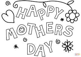 happy mother u0027s day coloring page free printable coloring pages