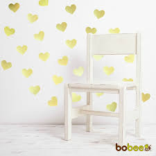amazon com bobee gold heart dots vinyl wall decals 36 count amazon com bobee gold heart dots vinyl wall decals 36 count home kitchen