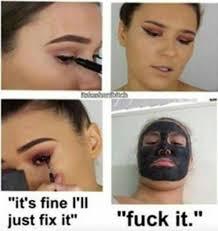 Eyeliner Meme - the eyeliner struggle is real lol too funny pinterest