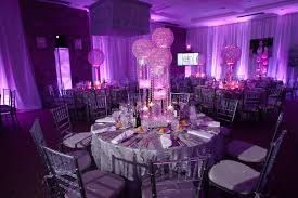 Sweet 16 Table Centerpieces Nighclub Lounge Bat Mitzvah U0026 Party Theme Radiant Orchid Bat
