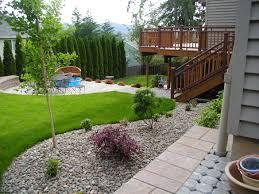 Free Backyard Landscaping Ideas Maintenance Free Garden Ideas Modern Low Landscape Patio And