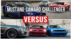 ford mustang chevy camaro 2015 ford mustang vs 2015 chevy camaro vs 2015 dodge challenger