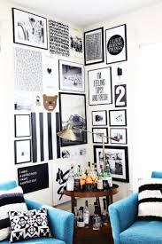 and white gallery walls