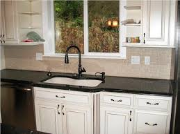 easy backsplash for kitchen kitchen white wooden kitchen cabinet with mosaic tiled