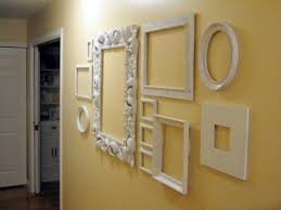empty frames wall decor with beautiful diy home decoration with
