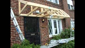 How To Build Window Awnings Pent Roof Over Door Slideshow Youtube