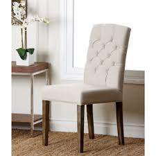 linen dining chair lucian set of 2 linen button tufted dining chairs free shipping