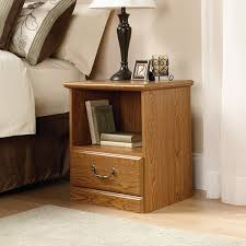 Bed Furniture Amazon Com Sauder Orchard Hills Night Stand Carolina Oak Finish