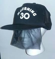 funeral veil black mourning 30 snapback trucker hat attached funeral veil 30th