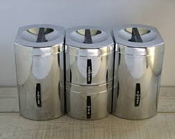 Canisters For Kitchen Counter by Kromex Canisters Etsy