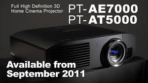 panasonic home theater projectors panasonic pt ae7000 pt at5000 home cinema 3d projector