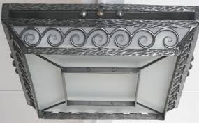 Wrought Iron Ceiling Lights Deco Wrought Iron Flush Mount Ceiling Light With Swirls