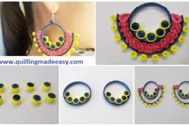 quilling earrings images quilling earrings archives quilling made easy