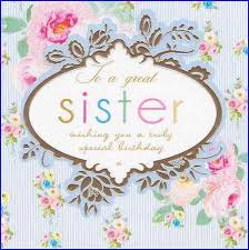happy birthday cards for sister happy birthday cards for sister