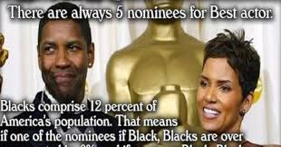 Oscars Meme - perfect solution to liberal claims of racism at the oscars