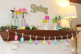 easter mantel decorations easter mantel
