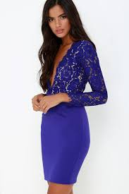 blue lace dress royal blue sleeve lace dress sujeiry