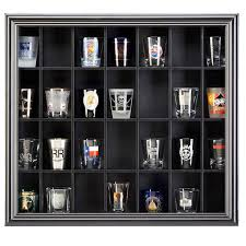 pint glass display cabinet studio décor shot glass display case
