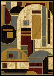 Modern Abstract Area Rugs Modern Abstract Geometric Shapes 6x8 Black Area Rug Actual 5 U0027 2