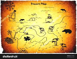 Blank Treasure Map by Blank Treasure Map Clip Art Cartoon Of A Happy Blond White