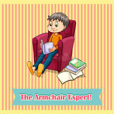 armchair expert idiom the armchair expert stock vector illustration of picture