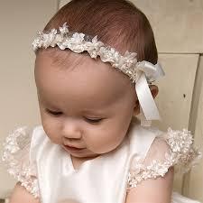 headbands for babies baptismal headband for baby andie keller baby girl