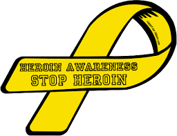 custom awareness ribbons custom ribbon heroin awareness stop heroin