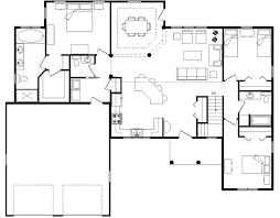ranch style log home floor plans open house plans ranch processcodi com