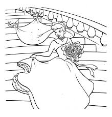 cinderella happy wedding dress cinderella coloring