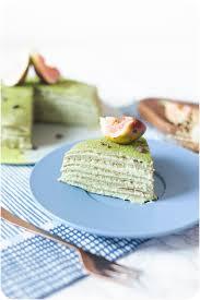 matcha crepe cake vegan gluten free refined sugar free low fat