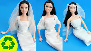 wedding dress no diy no sew no glue doll wedding dresses easy doll
