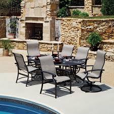 Patio Dining Sets Seats 6 - winston madero sling patio dining set seats up to 6 at winston