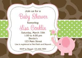 couples baby shower invitations pink and gray elephant invite